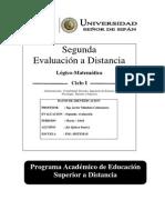 2º EVD DE LOGICO MATEMATICA