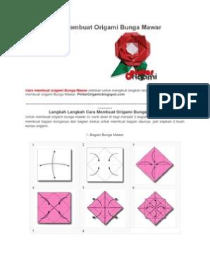 Tutorial Origami Bunga Mawar - Farah SN - YouTube   396x298