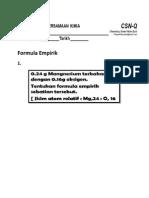 Formula Emprik Quiz Kimia Tingkatan 4