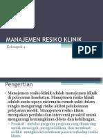 Manajemen Resiko Klinik Ppt