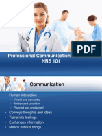 Professional Communication in Nursing