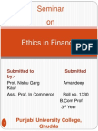132797160 Ethics in Finance by Anita Ppt