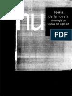 Teoría de la novela. Antología de textos del siglo XX