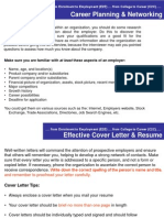 Sample of Cover Letter & Resume