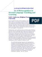 The Role of Metacognition