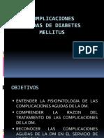 Complicaciones Agudas de Diabetes Mellitus