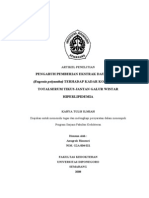 PENGARUH PEMBERIAN EKSTRAK DAUN SALAM (Eugenia polyantha)TERHADAP KADAR KOLESTEROL TOTALSERUM TIKUS JANTAN GALUR WISTAR HIPERLIPIDEMIA