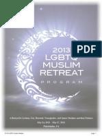 2013 LGBTQ Muslim Retreat Program Book B&W