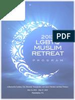2013 LGBTQ Muslim Retreat Program Book - Color