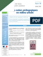 les radars pédagogiques en milieu urbain