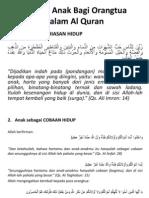 5 Posisi Anak Bagi Orangtua Dalam Al Quran