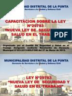 Exposicion Ley de Seguridad y Salud en El Trabajo