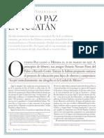 Octavio Paz en Yucatán, de Guillermo Sheridan, Letras Libres, núm. 25, enero, 2001