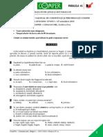 Subiect LimbaRomana EtapaI 13-14 ClasaIV