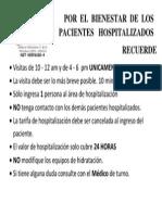 Por El Bienestar de Los Pacientes Hospitalizados