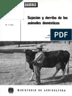 Sujecion y Derribo de Los Animales Domesticos