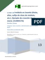 CU00417A Crear Un Modulo Joomla Sufijo Clase Ejemplo Creacion Menu
