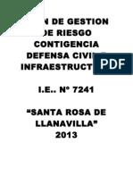 VALIDO PLAN DE CONTIGENCIA DE DEFENSA CIVIL  año 2013