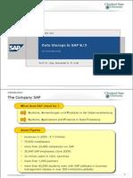 Data Storage in SAP