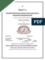 Report in Minor Project