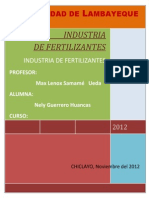 Industria de Fertilizantes