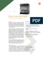 Motorola - Datasheet AXS1800