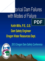 Historical Dam Failures and Modes
