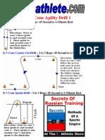 Drill Sheet Cone Agility Drills