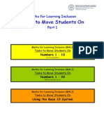 Tasks to Move Students o 1