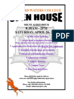 Open House Spring 2014 Flyer