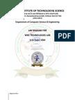 Web Technologies Lab Manual