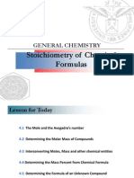Lecture 4. Stoichiometry (Chemical Formulas) (1)