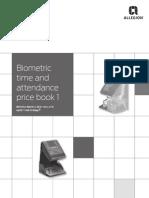 Biometrics Price Book 2014- 4/14 Update