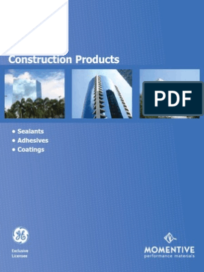 GE Products Catalogue - Sealant | Silicone | Concrete