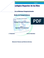 Unidad 2 Redes y Automatas. Agustín Cañas Landero