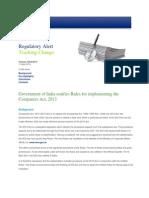 Deloitte Regulatory Alert - Companies Act 2013 - Rules