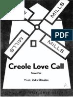 Duke Ellington - Creole Love Call - Slow Fox - 1928 - Sheet Music