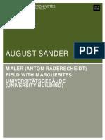 August Sander Notes
