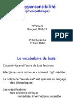 hypersensibilite DFGSM-3 2012 2013