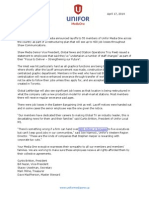 Unifor April Layoffs PDF