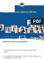 Simplified Costs Options (SCOs) presentation