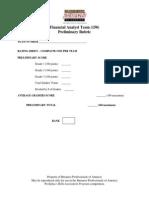 150 financial analyst team preliminary rubric r 2014