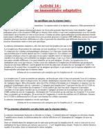 Activité 14 La Réponse Immunitaire Adaptative.docx