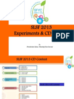 Presentation 2 SLSF 2013 Experiments & CD Content (1)