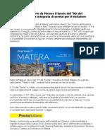 """Poste Italiane ha scelto la città di Matera per il lancio del """"Kit del Turista"""""""