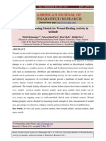 A Review Screening Models for Wound Healing Activity in Animals - 2013