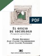 El Oficio de Sociologo Bourdieu Passeron