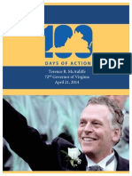 Governor McAuliffe 100 Days Report