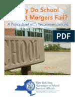 NYSASBO School Merger Study April 2014 1