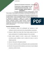 Convocatoria IICLES El Salvador 2014.